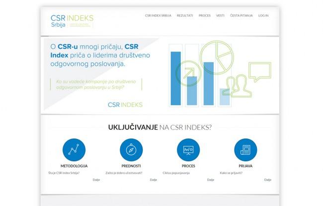 CSR Index website